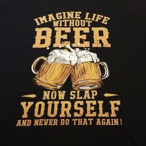 😍5/$25😍 Graphic beer tee